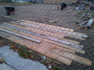 An urban wood boardwalk will cut across a vacant lot at the busy corner of 79th St. & Halsted on Chicago's South Side.